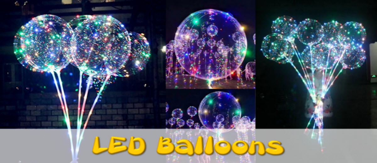 LED Clear Balloons