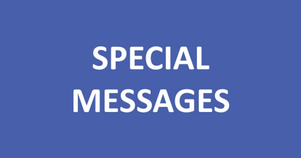 Special Messages