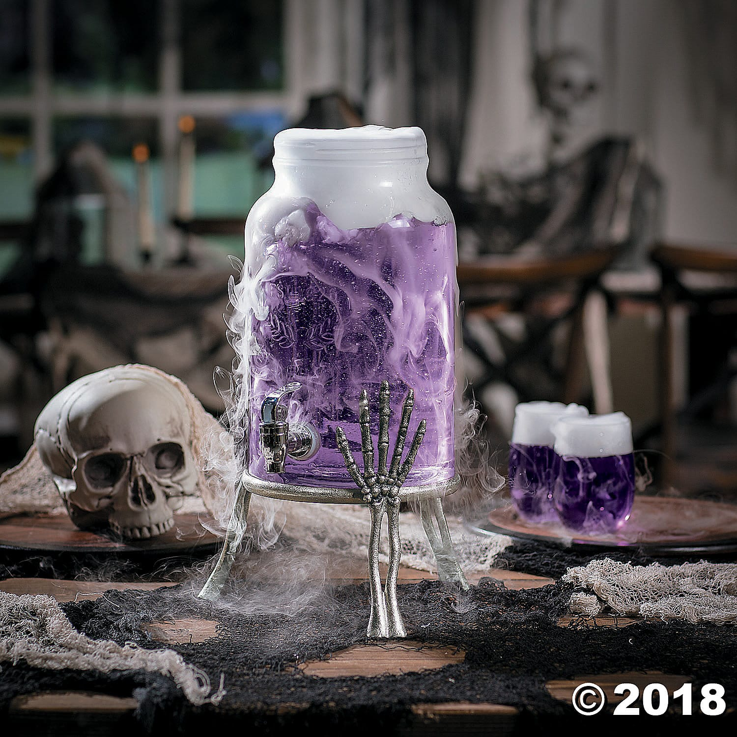 halloween stand with drink dispenser - party craze