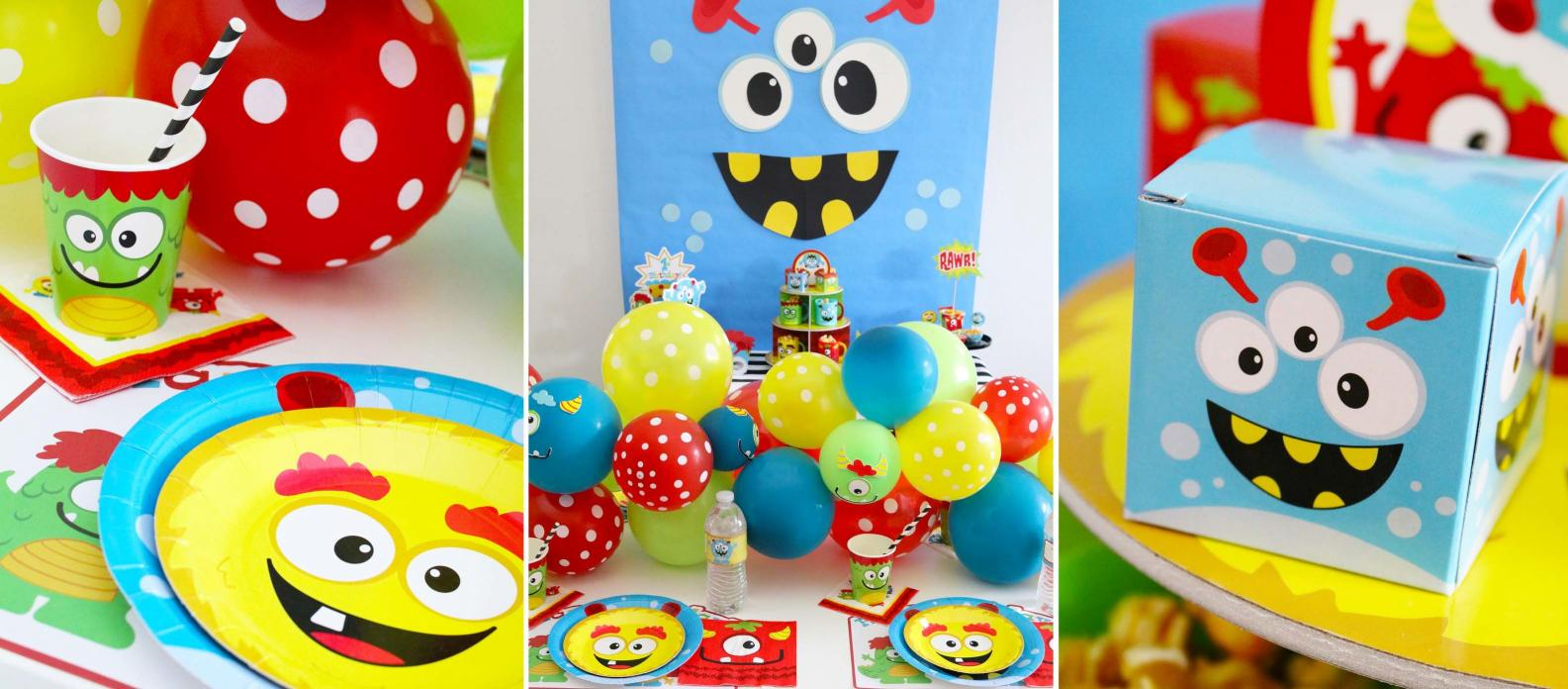 efa75d49cbb Mini Monster Theme Is your little one celebrating their 1st birthday very  soon  Throw your own bright and colourful Mini Monster 1st Birthday Party!